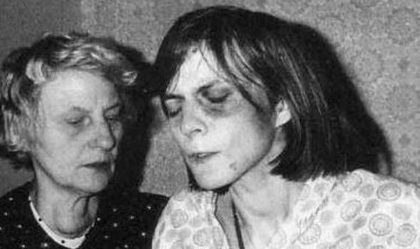 Anneliese Michel during her exorcism rites.