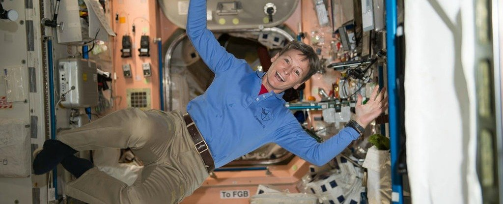Peggy Whitson in Space