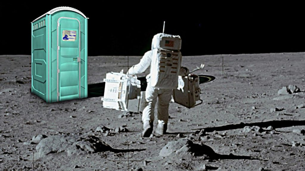 portapotty in space