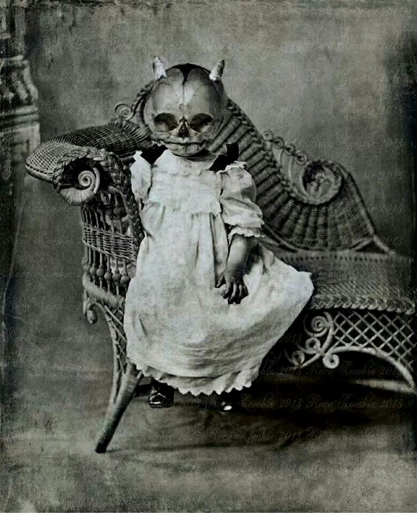 scary old baby photo